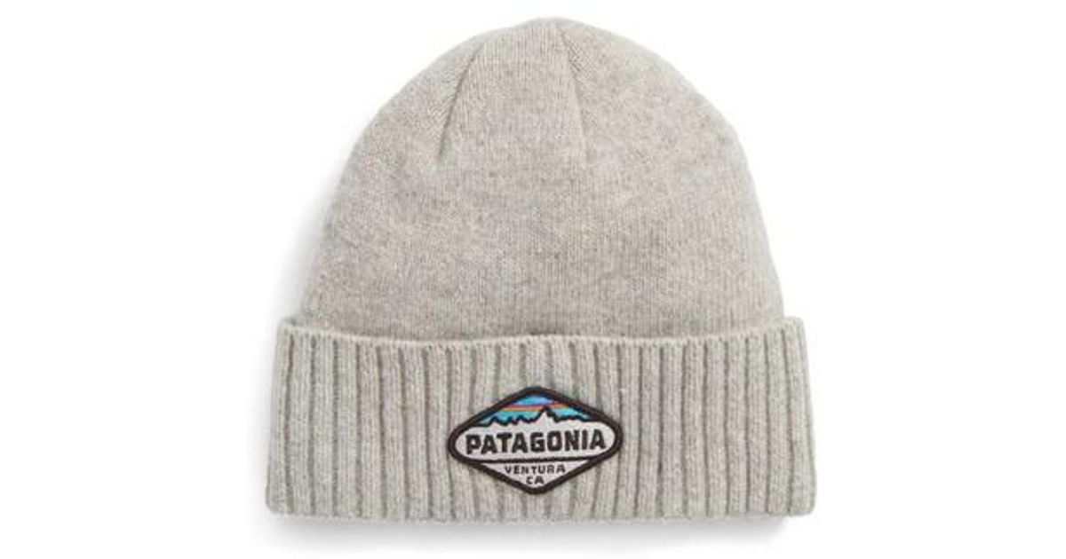 best sell outlet for sale online shop Patagonia Brodeo Wool Stocking Cap in Gray for Men - Lyst