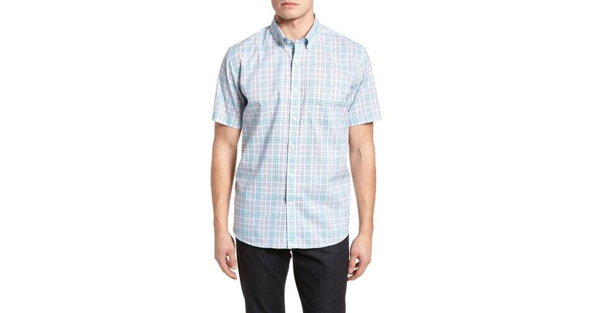 Lyst - Cutter   Buck Isaac Classic Fit Easy Care Check Sport Shirt in Blue  for Men - Save 16.66666666666667% 12830e489