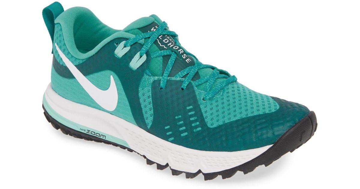 uk availability 7a8f4 66e2c Nike Green Air Zoom Wildhorse 5