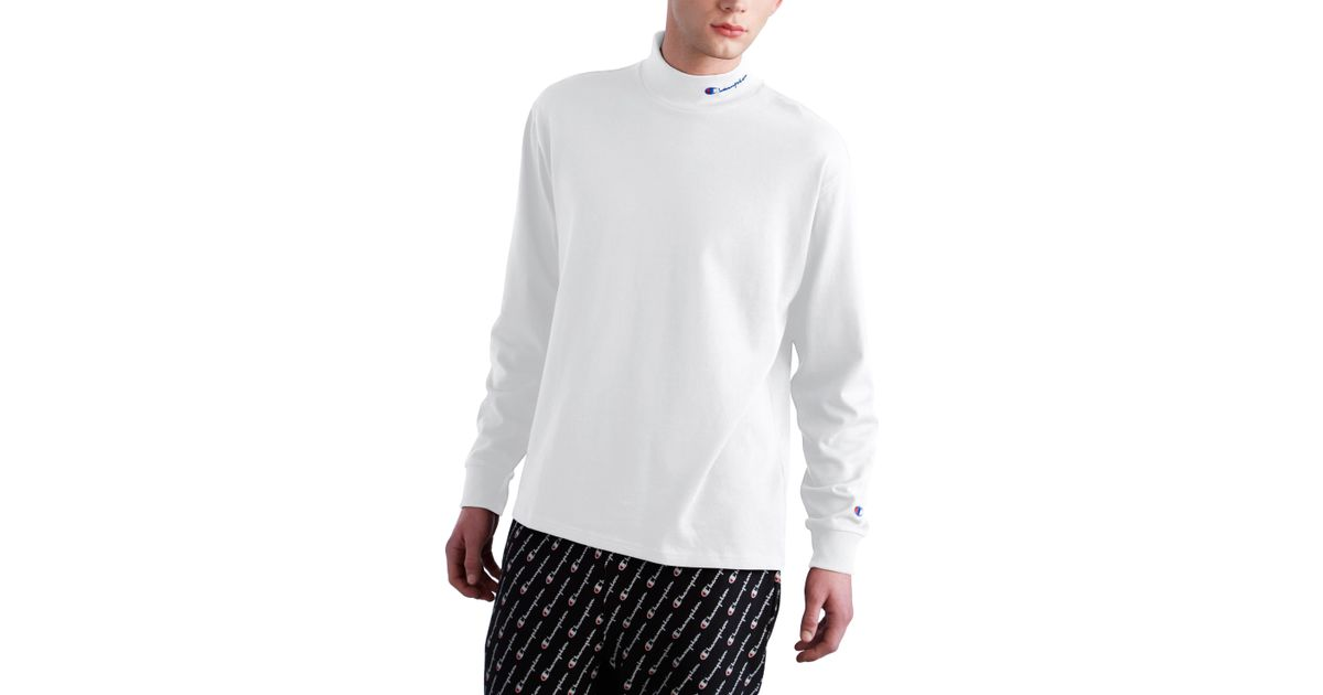 b53be0c7 Champion Heavyweight Mock Neck T-shirt in White for Men - Save 23% - Lyst