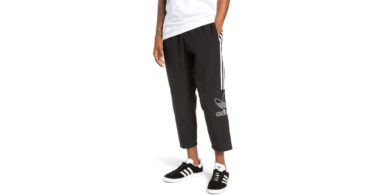 87b4be460c Adidas Originals Black Outline Cropped Pants for men
