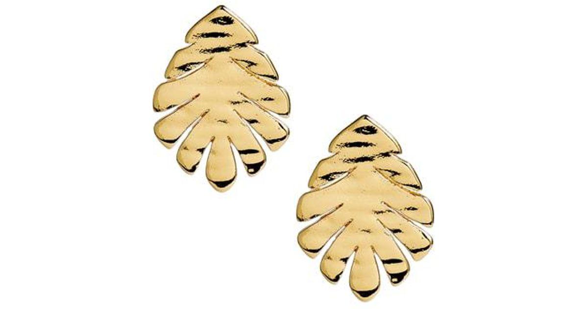 1d23ef9bb5c1d Kate Spade Metallic A New Leaf Stud Earrings