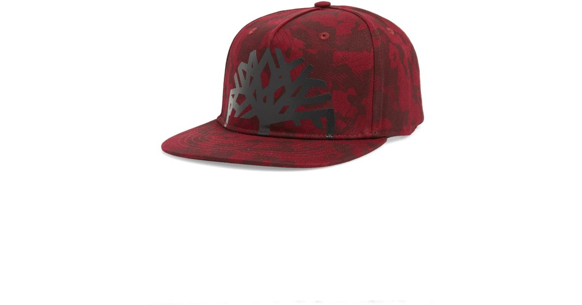 ed85a55b244cc Lyst - Timberland Castle Hill Camo Cap in Red for Men