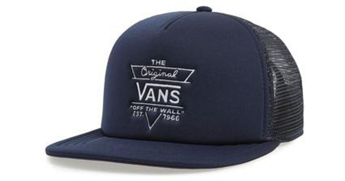 af770c39 Vans Blue Allendale Embroidered Trucker Hat - for men