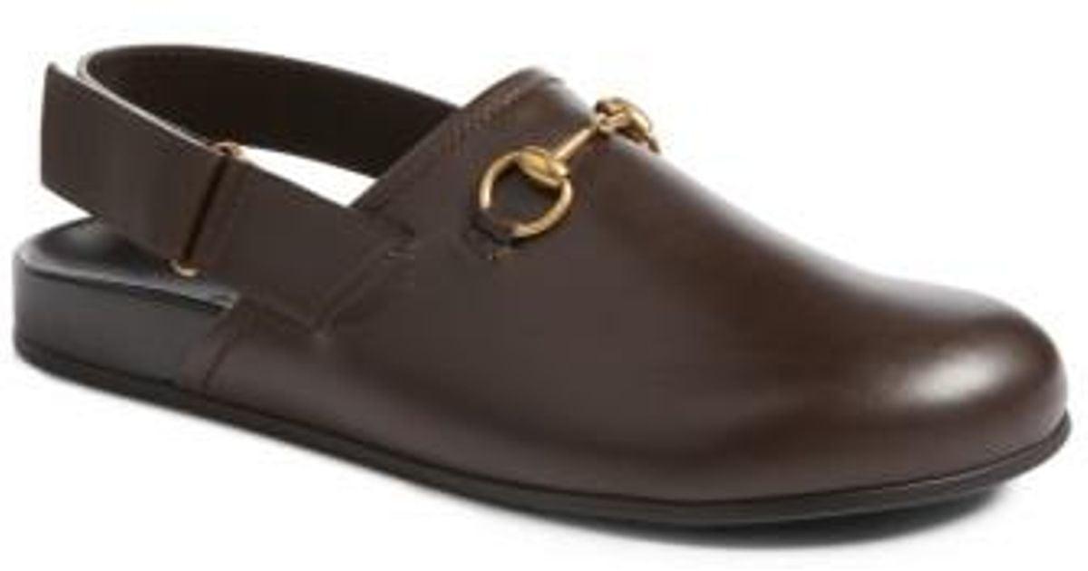 dd25c96288f Lyst - Gucci Horsebit Slingback Loafer in Brown