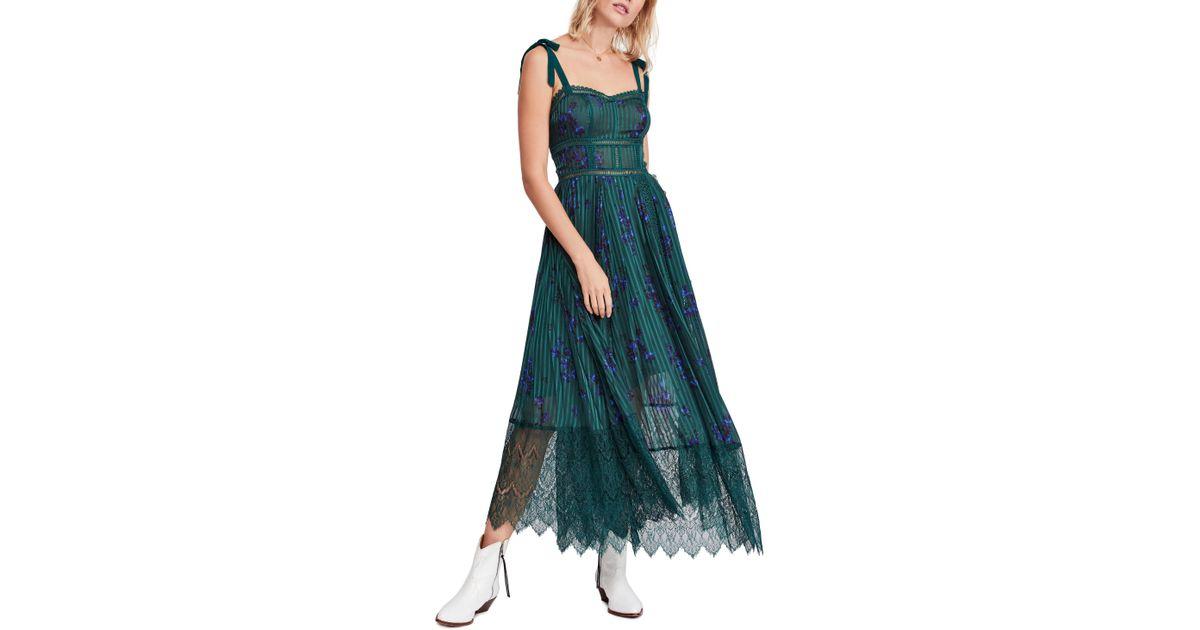 9b41d9b1ec Free People Seven Wonders Maxi Dress in Green - Lyst