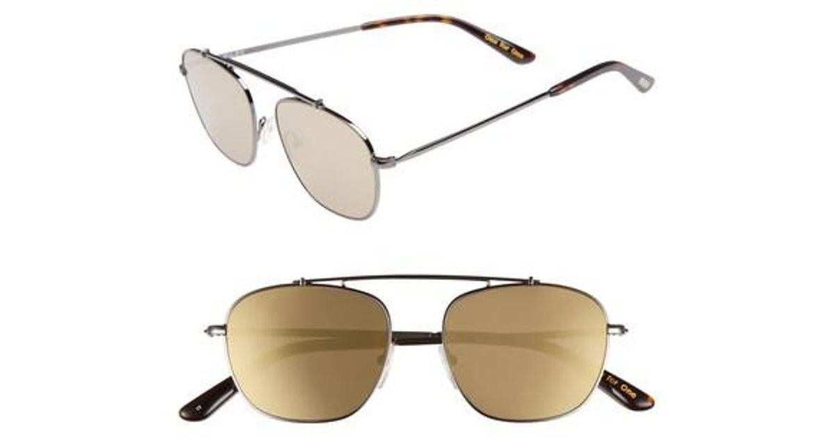 94fb35b1121f Lyst - TOMS Riley 52mm Sunglasses - Gunmetal in Metallic