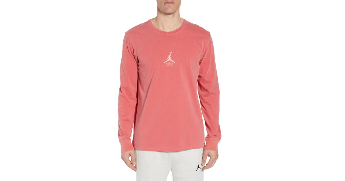 071ff278853f Lyst - Nike Jordan Wings Long Sleeve T-shirt in Red for Men