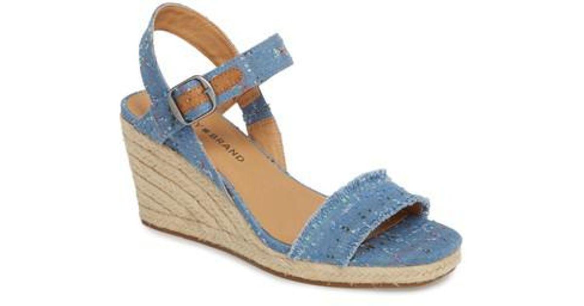 0f6122e6ee9 Lucky Brand Blue Marceline Wedge Sandal