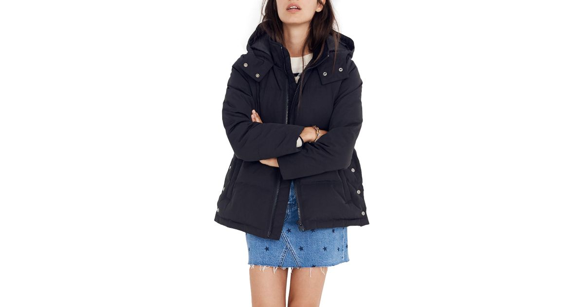 50196dad199 Madewell - Black Quilted Puffer Parka - Lyst