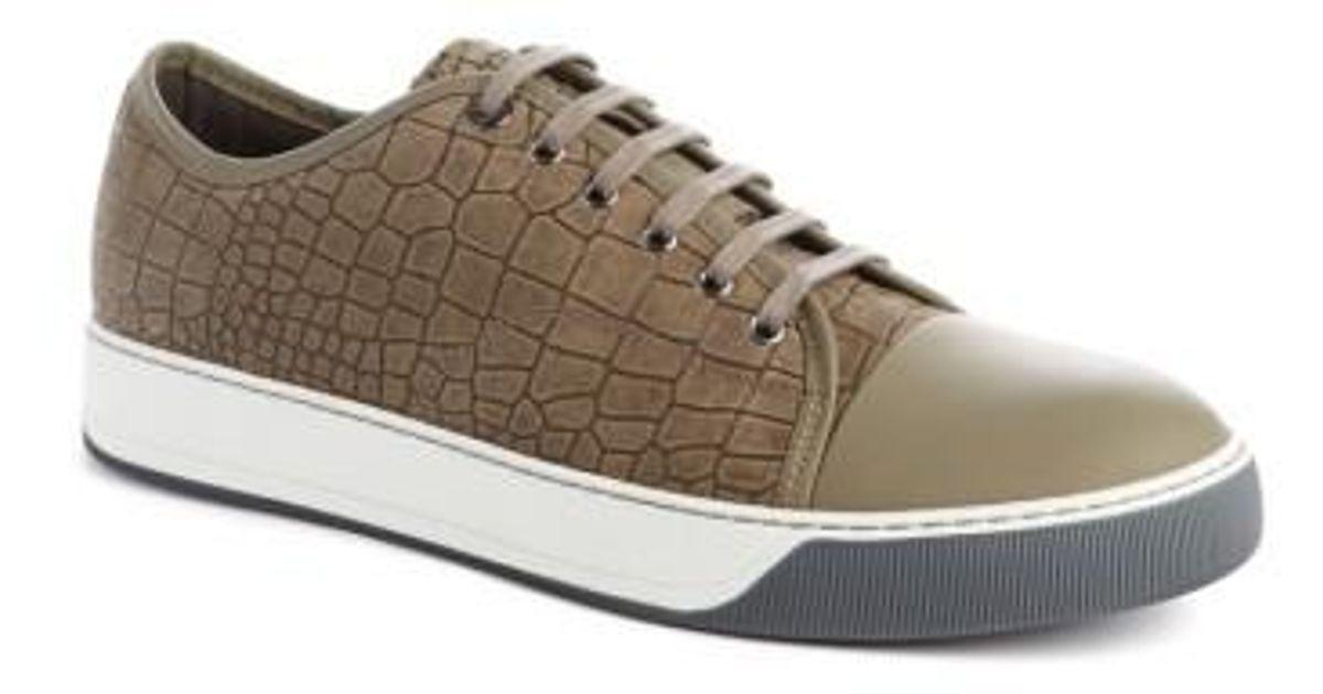 LanvinMen's Embossed Nubuck Low Top Sneaker G2ip0d8IvR
