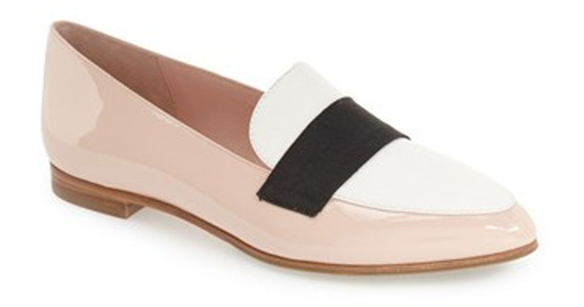 kate spade new york corina pointy toe loafer in pink lyst