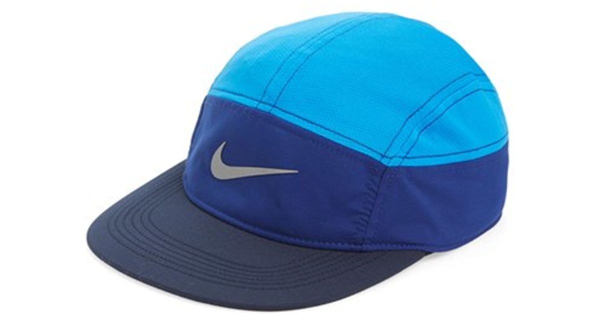 34fe500a ... usa lyst nike aw84 zip adjustable running cap in blue for men 387fb  de330