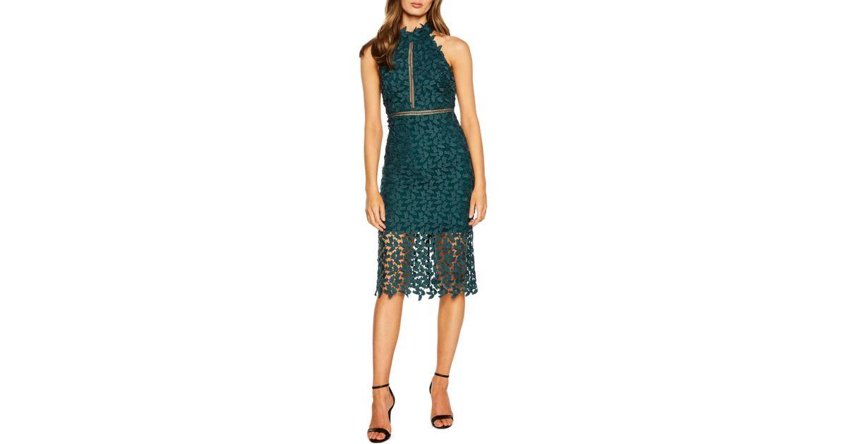 81e3316f Bardot Gemma Dress in Green - Lyst