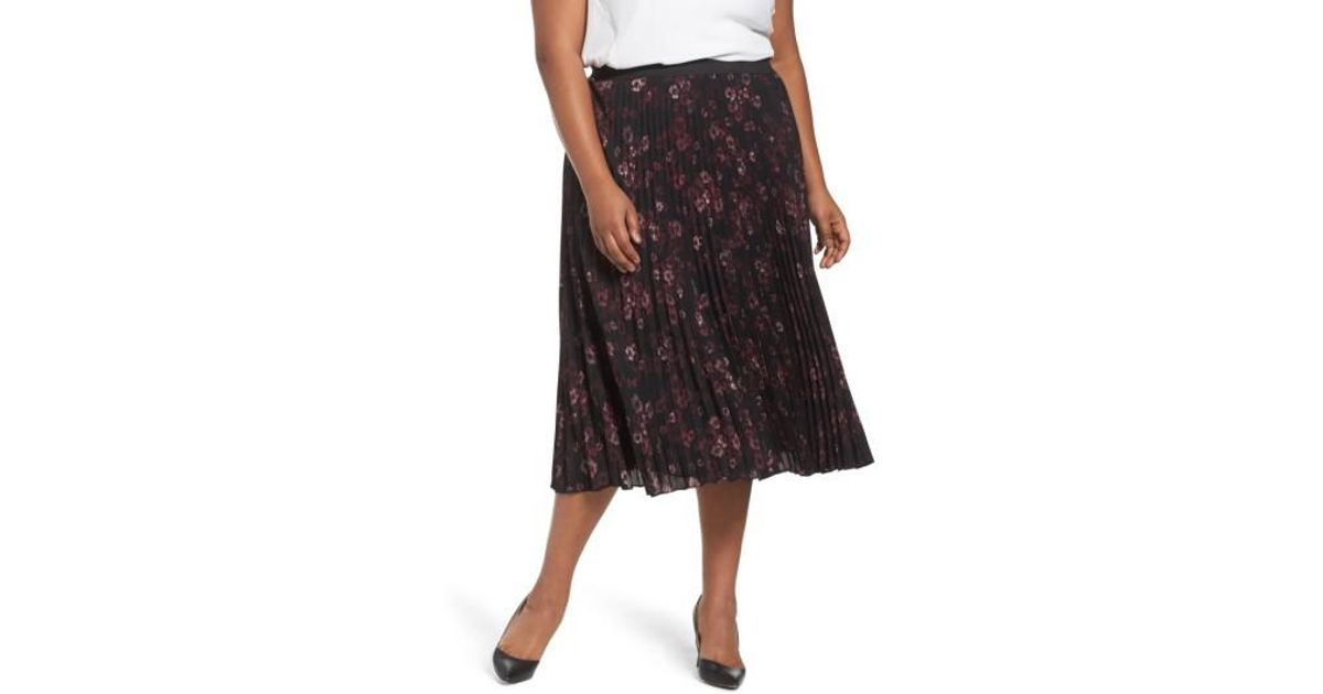 fab1dcdd0c Lyst - Sejour Pleated Midi Skirt in Black