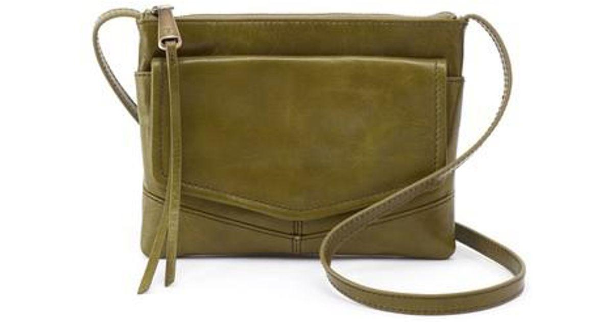 8e4a050417e0 Lyst - Hobo Amble Leather Crossbody Bag in Green