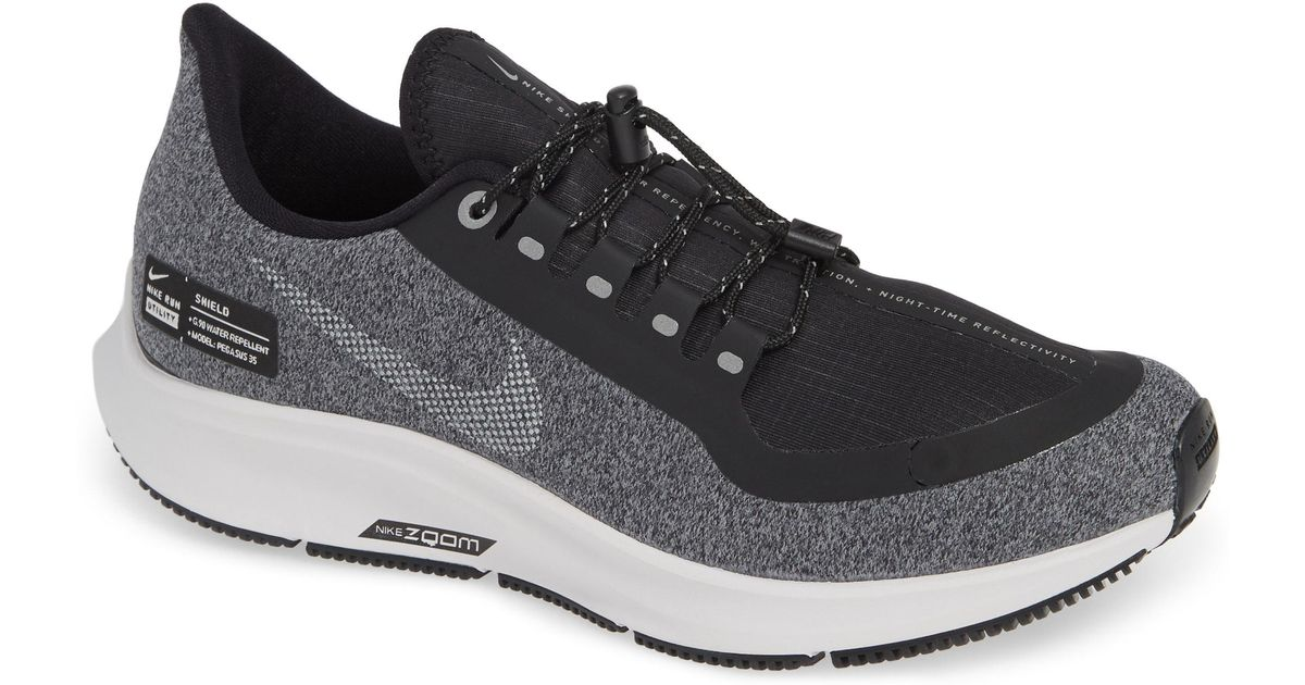 new style cea02 e08a8 Lyst - Nike Air Zoom Pegasus 35 Shield Gs Water Repellent Running Shoe in  Gray - Save 36%