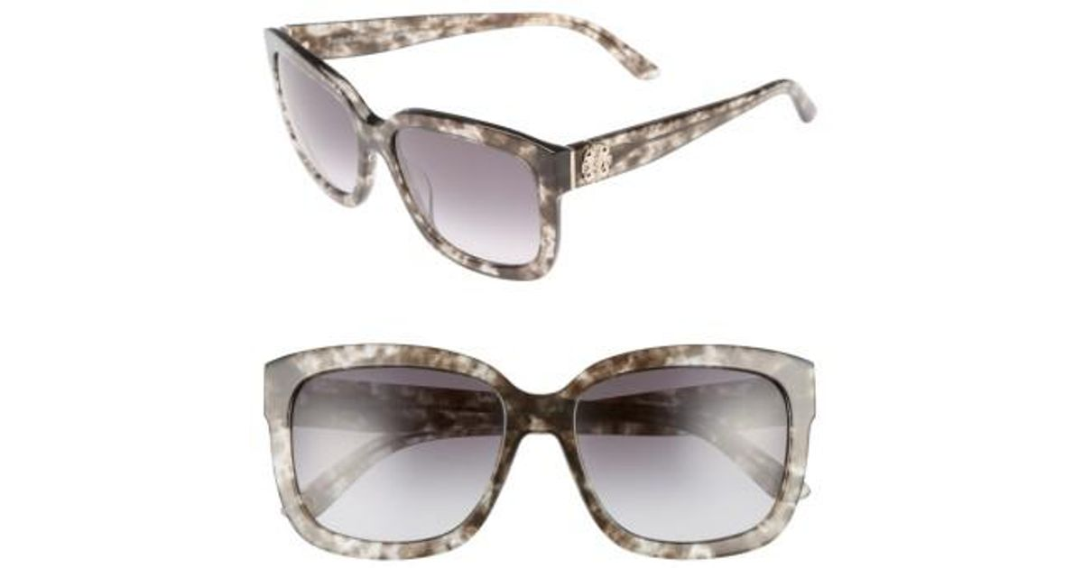 3a290c544f08 Lyst - Juicy Couture Shades Of 55mm Square Sunglasses - Havana