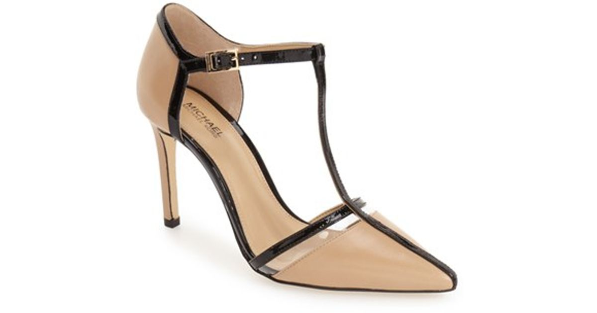 ASOS River Island Leather Mesh Court Shoes in Nude