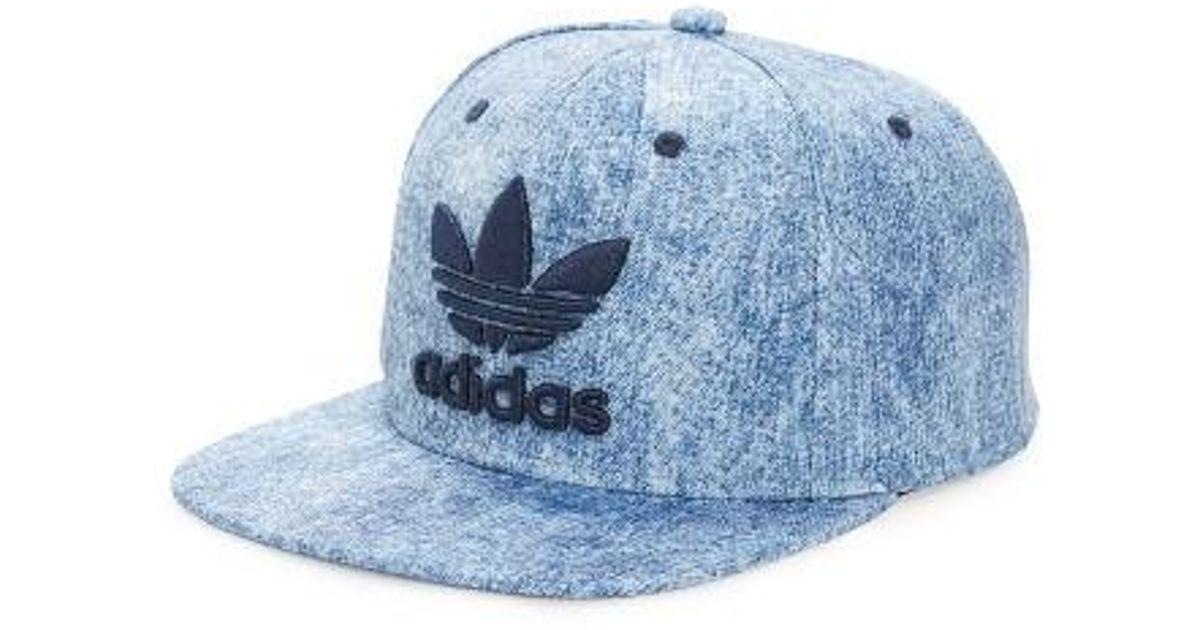 f981cab3dd29e9 adidas Originals 'trefoil Plus' Snapback Cap in Blue for Men - Lyst