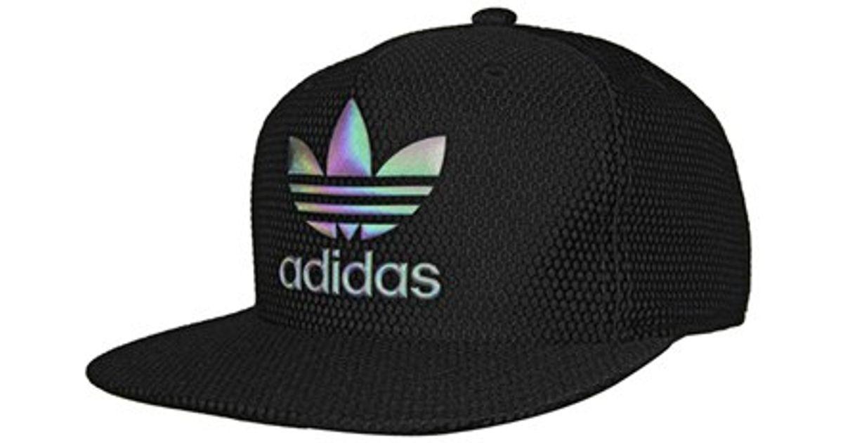 Lyst - adidas Originals  trefoil Reflective  Snapback Cap in Black 6e5dcef702d