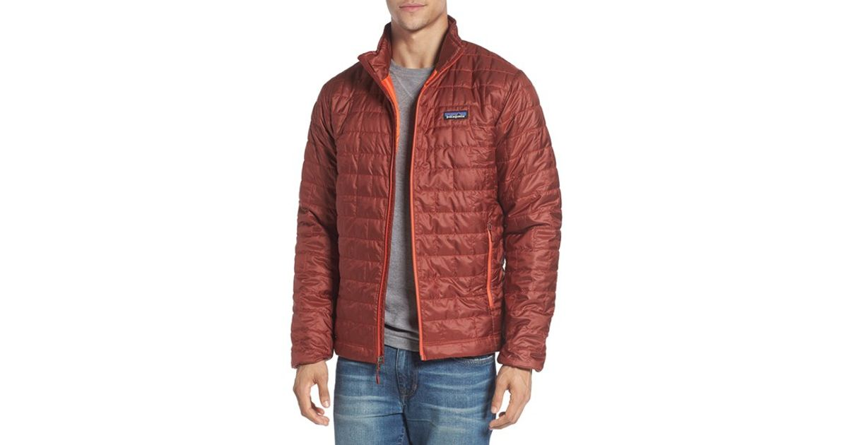 cf9b09998aa4c Patagonia  nano Puff  Water Resistant Jacket in Red for Men - Lyst