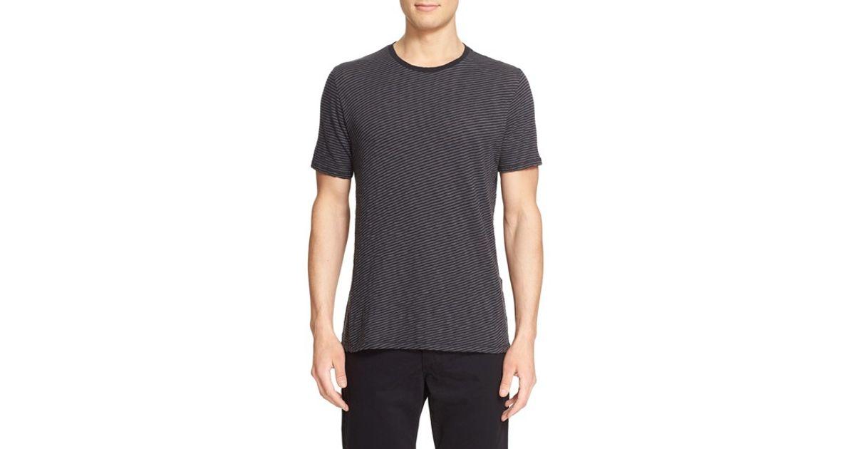 Rag & bone 'rupert' Stripe T-shirt in Grey for Men