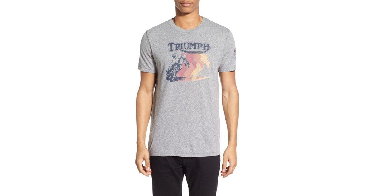 Lucky Brand 39 Retro Triumph 39 Graphic Crewneck T Shirt In