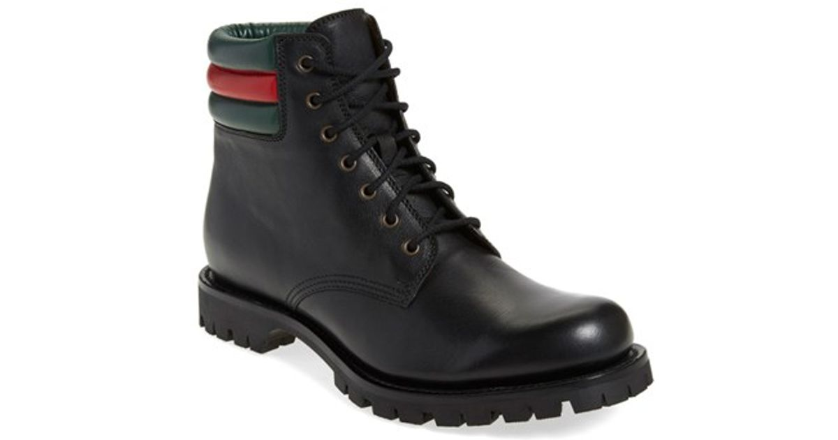 b1fa74260 Gucci Marland Leather Ankle Boots in Black for Men - Lyst
