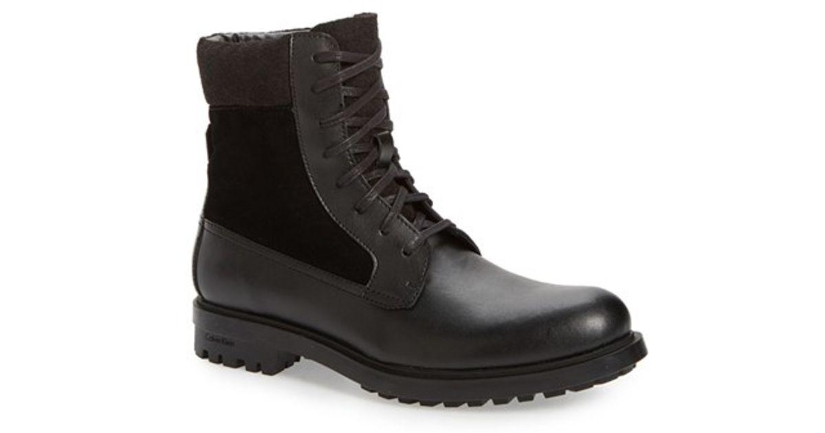 3d90799816a Lyst - Calvin Klein  gable  Plain-toe Combat Boot in Black for Men