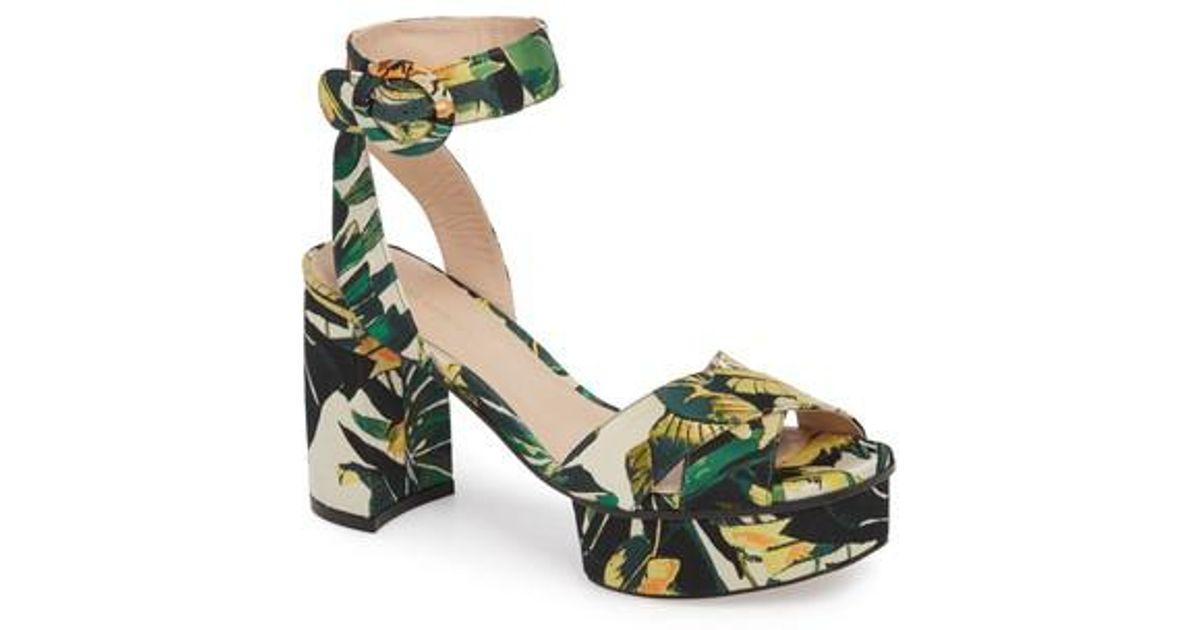 34a8cfb31bd Lyst - Stuart Weitzman Carmina Ankle Strap Platform Sandal (women) in Green