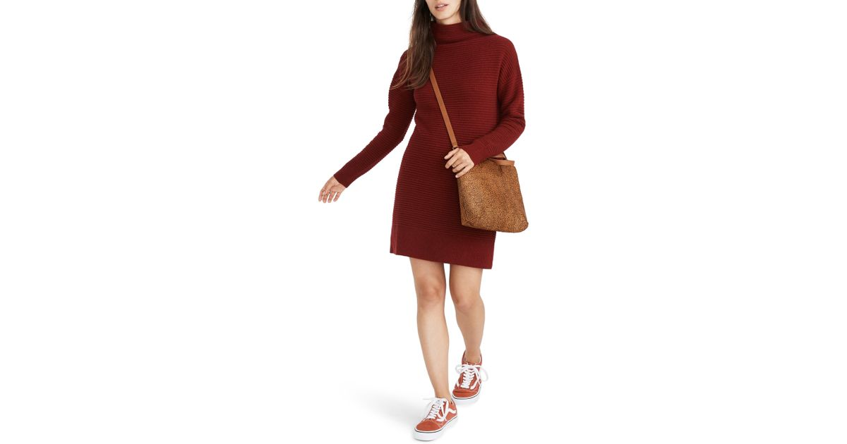 205e01604a Madewell Skyscraper Merino Wool Sweater Dress in Red - Lyst