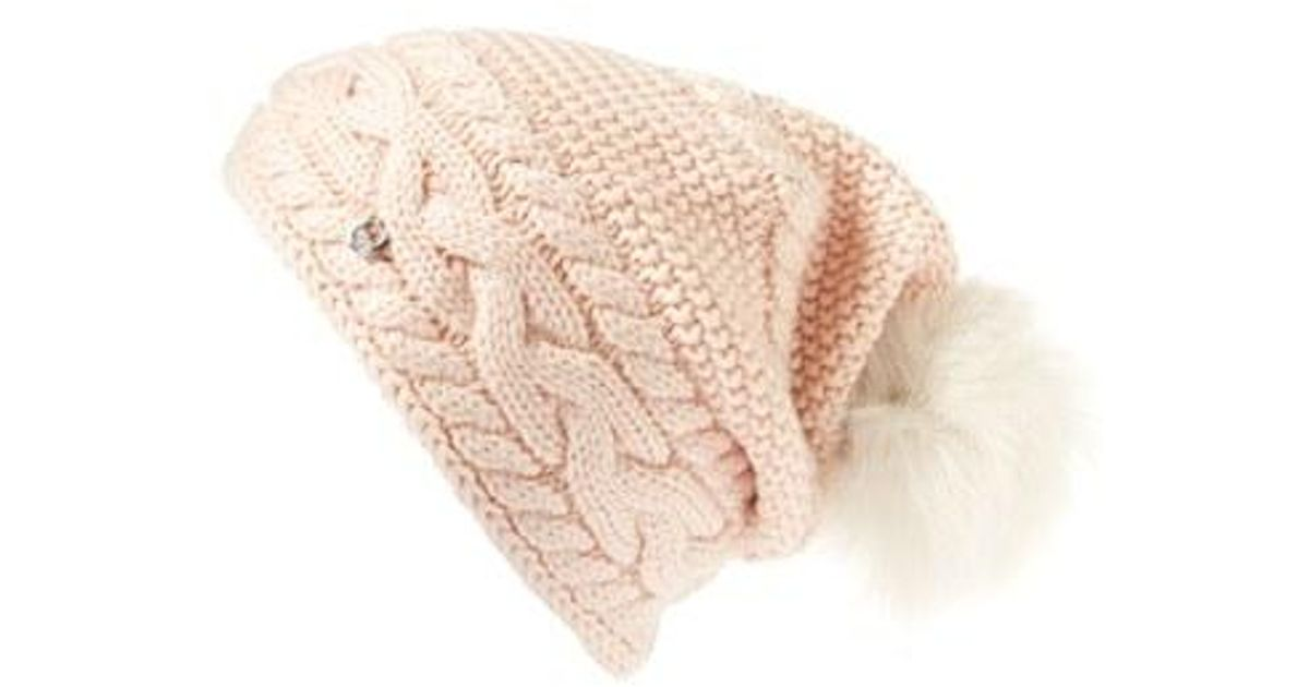 f27a119a UGG Multicolor Ugg Cable Knit Genuine Shearling Pom Beanie