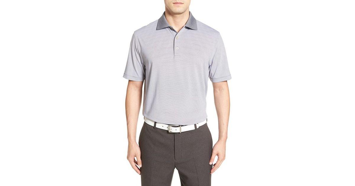 Peter millar 39 jubilee 39 moisture wicking stripe golf polo for Peter millar golf shirts
