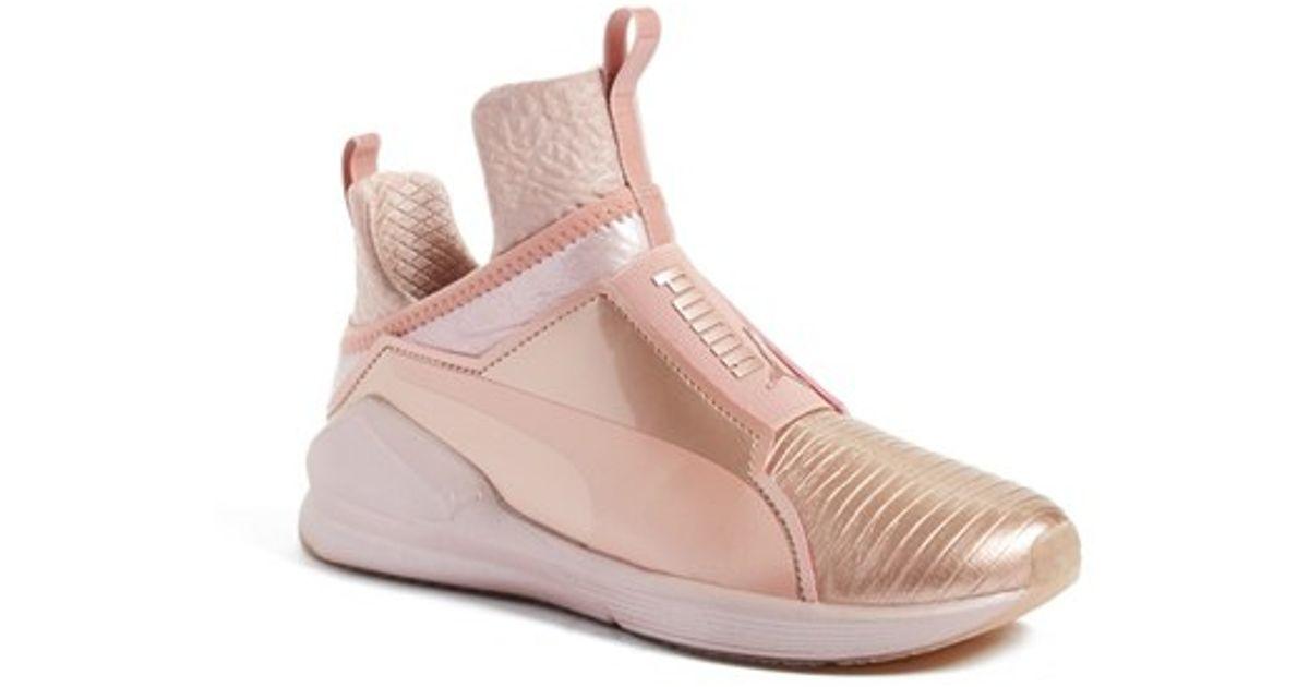 0923ab00e463a6 PUMA Fierce Metallic High Top Sneaker in Pink - Lyst