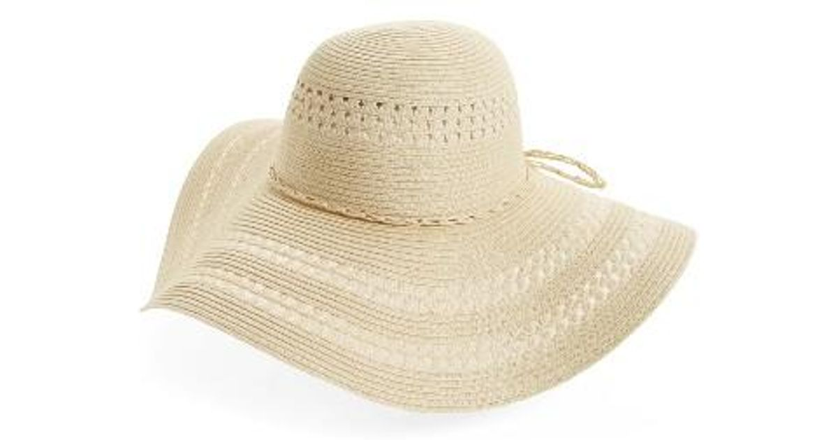 86e4f04c7c6c6 Lyst - Fits Floppy Woven Straw Hat in Natural