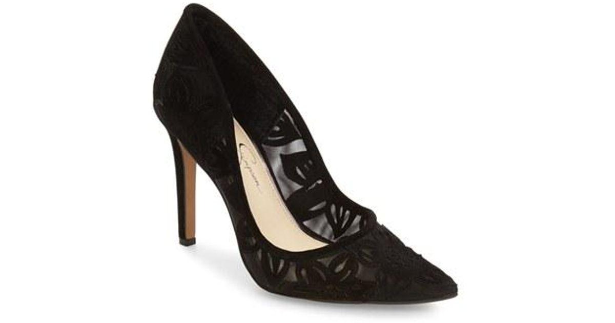 33aa48e2e9eb Lyst - Jessica Simpson Charese Pointed-Toe Pumps in Black