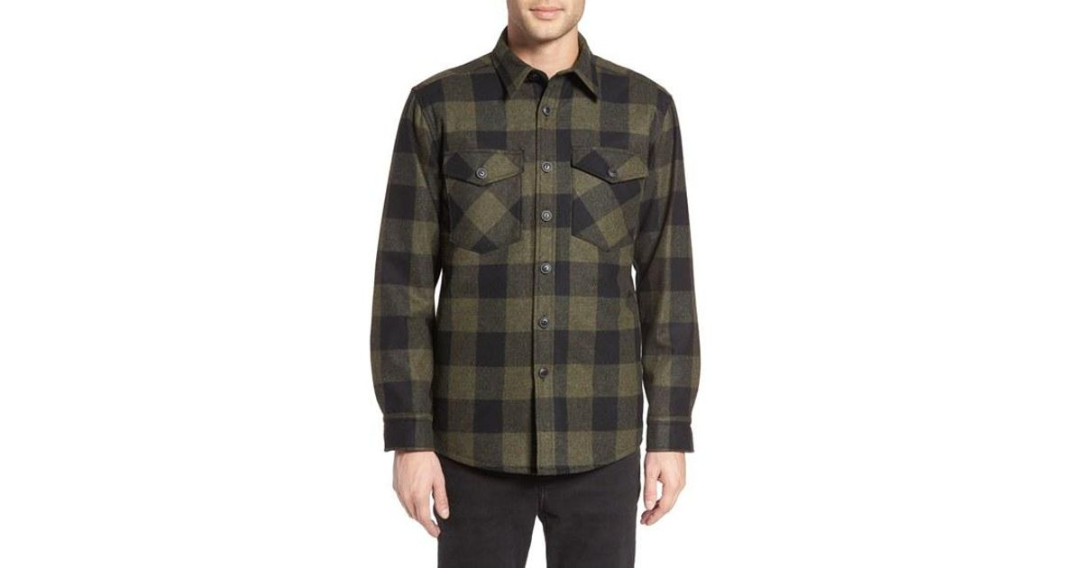 55043d3c870082 Pendleton Quilt Lined Cpo Wool Shirt in Black for Men - Lyst