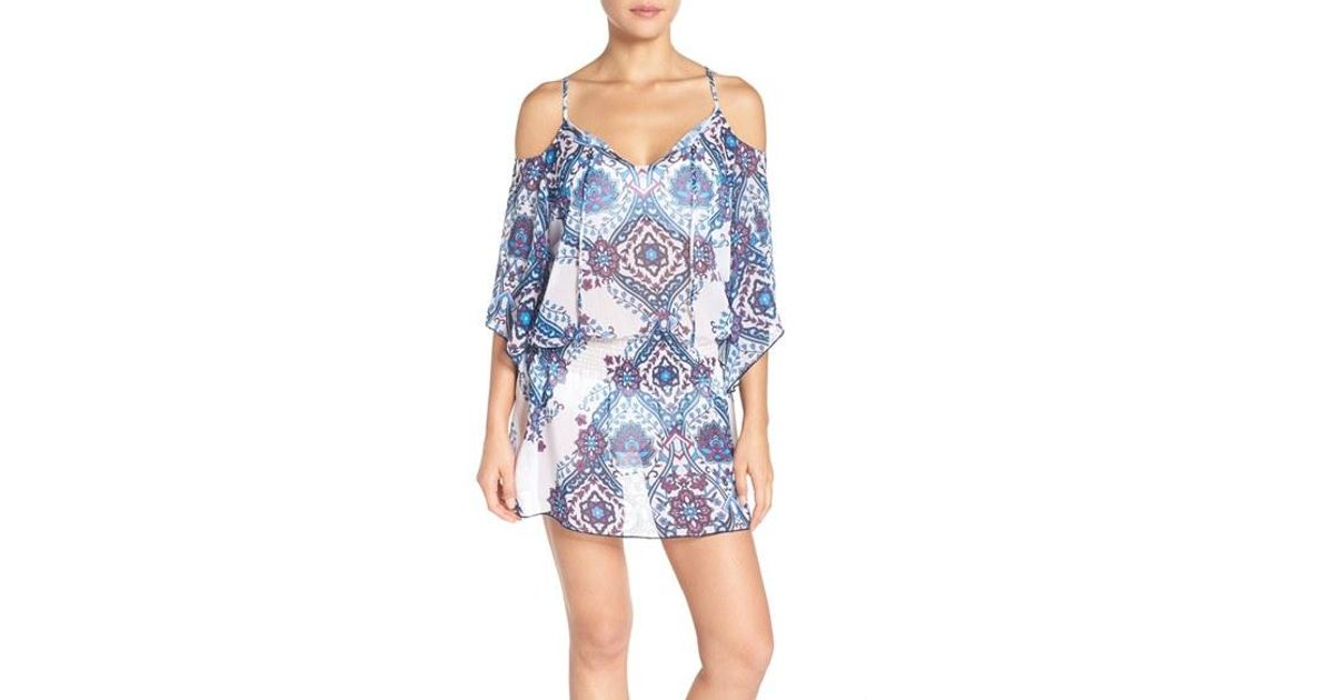 Becca Cover-up Tunic in Blue | Lyst