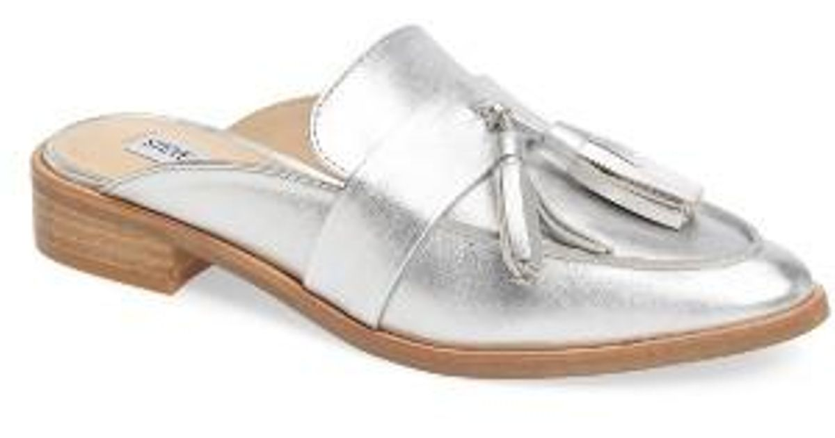 887fea9197f Lyst - Steve Madden Magan Tasseled Mule in Metallic
