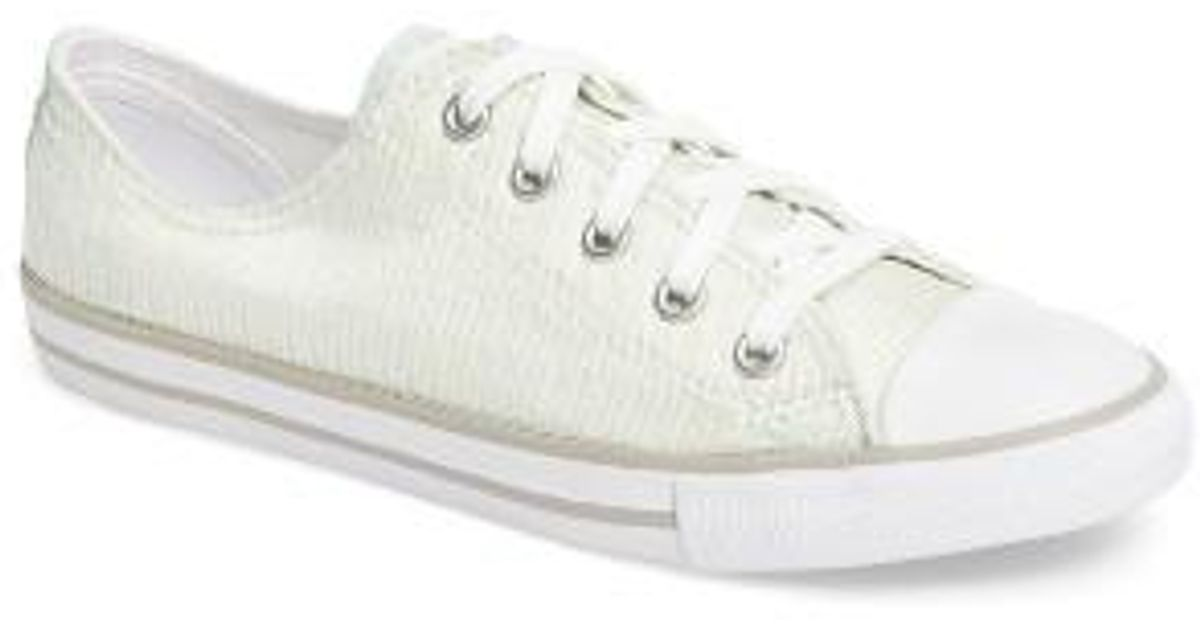 Lyst - Converse Chuck Taylor All Star Dainty Low Top Sneaker in White a2308e93f5e3