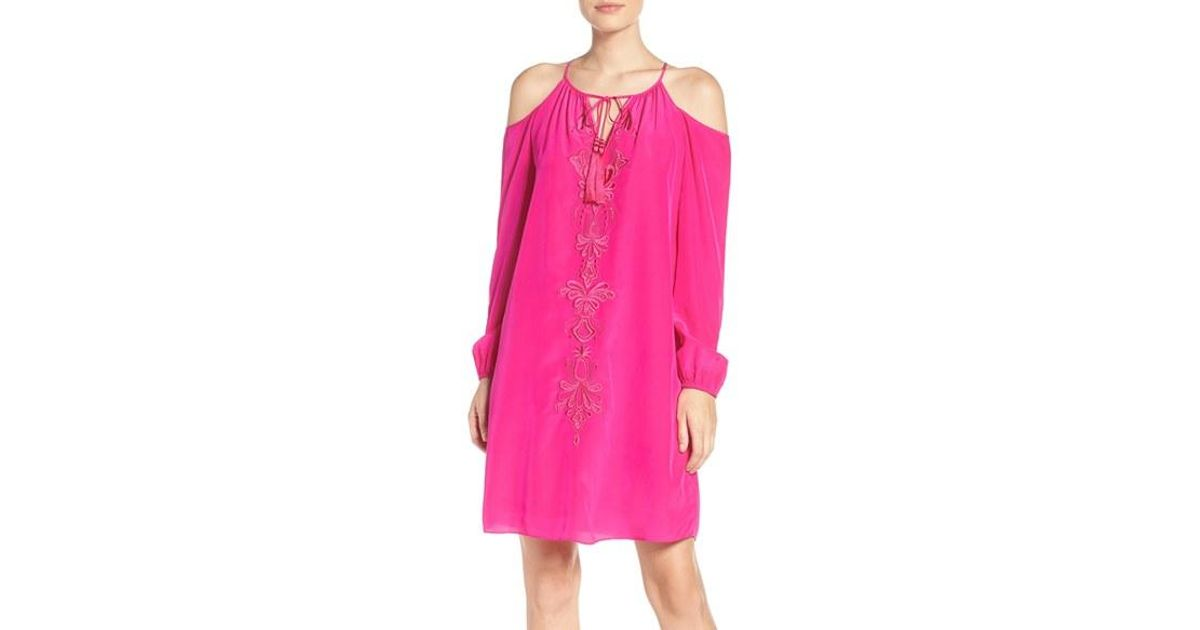 c75802d7b59 Lyst - Lilly Pulitzer Lilly Pulitzer Fulton Silk Tunic Dress in Pink