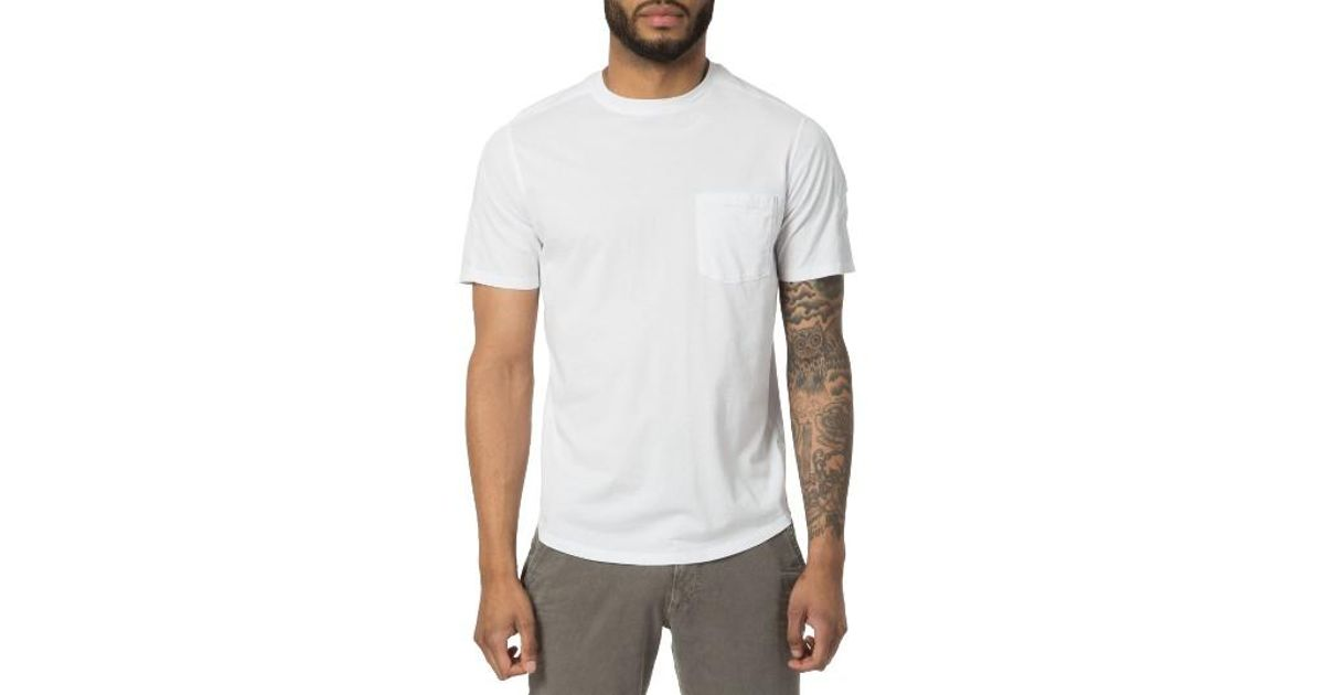 Good man brand cotton t shirt in white for men lyst for Successful t shirt brands