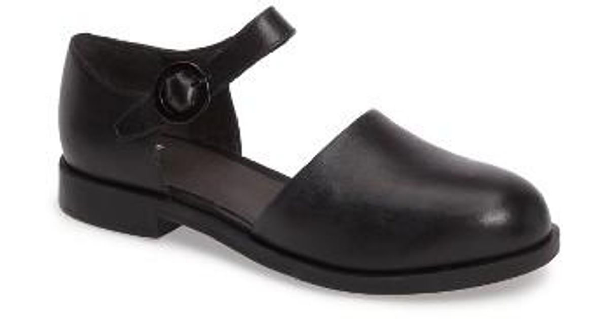 64073e96b00 Lyst - Camper Bowie Ankle Strap Loafer in Black