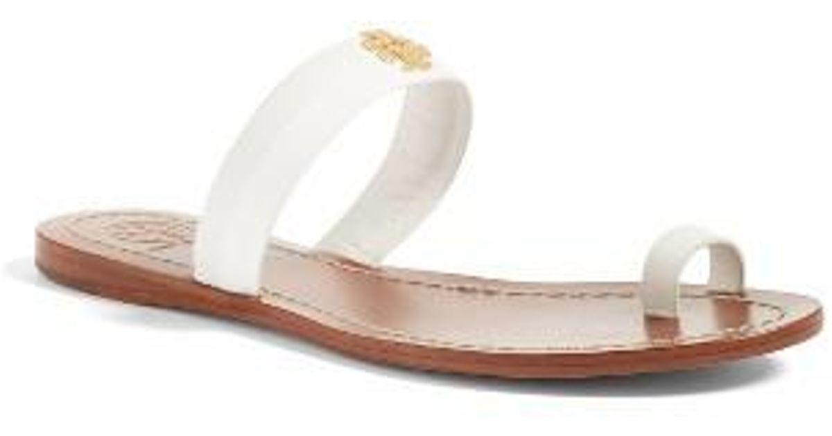 adba28b3bbb3 Lyst - Tory Burch Jolie Toe Ring Sandal in White