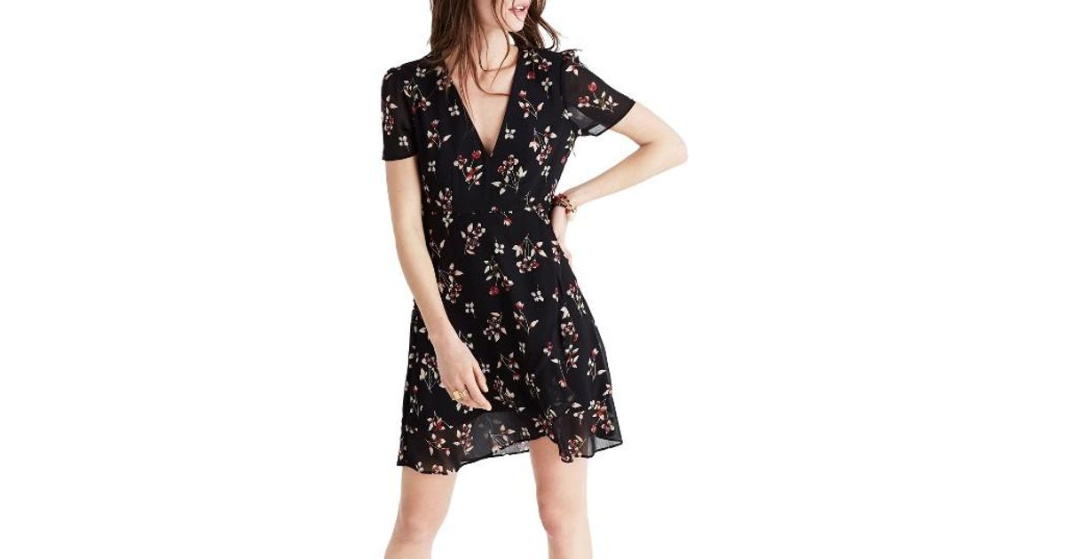Ruffled Floral-print Crepe De Chine Dress - Blue Madewell DLkFoecij