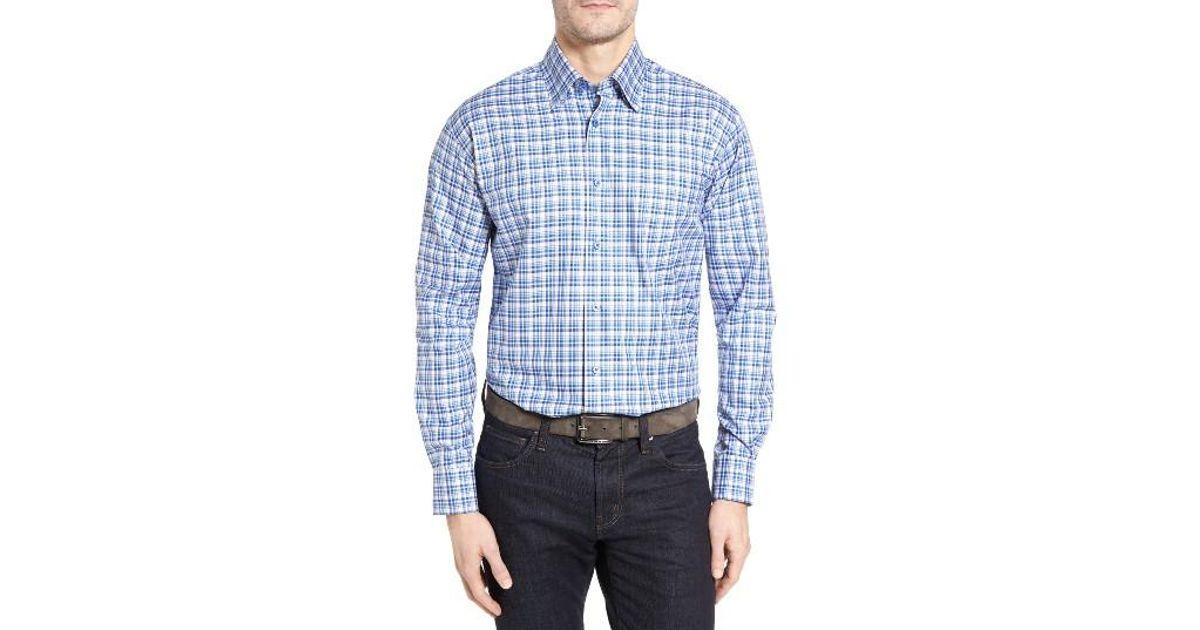 Robert talbott anderson classic fit plaid micro twill for Robert talbott shirts sale