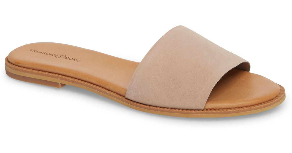 049e385c8226f Lyst - Treasure   Bond Mere Flat Slide Sandal - Save 63%