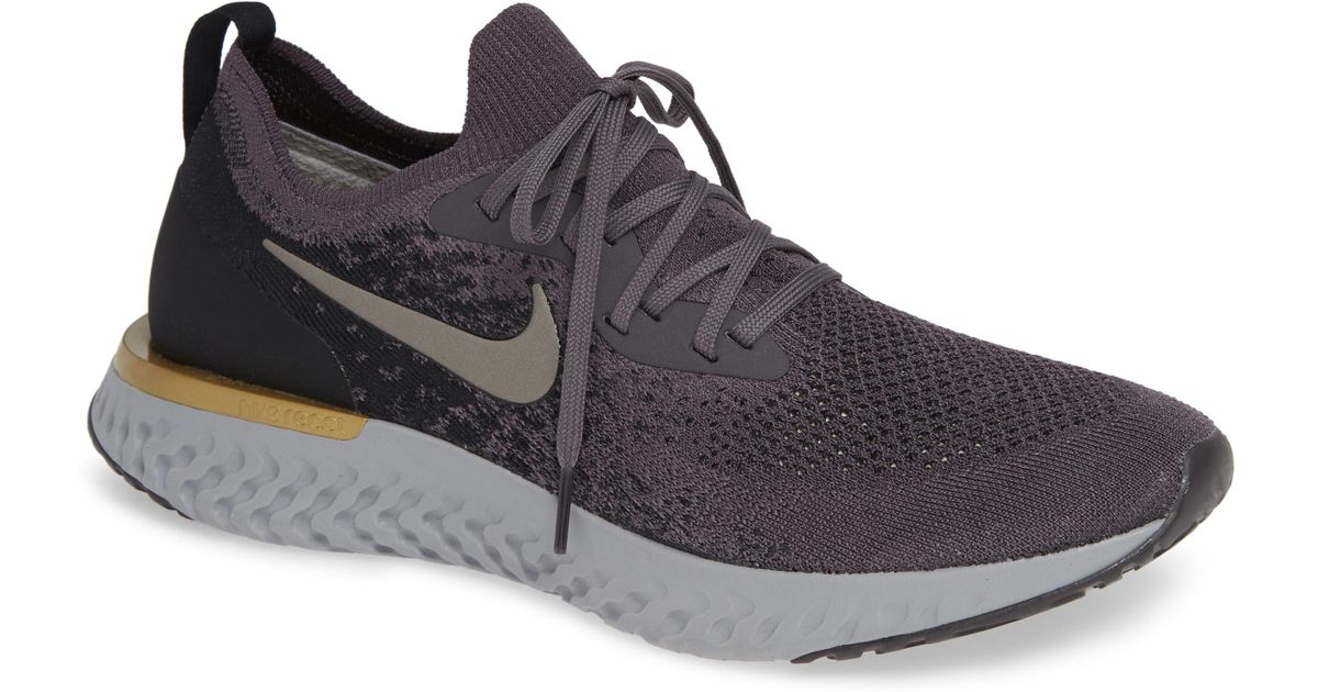 75bb8a6598c Lyst - Nike Epic React Flyknit Running Shoe in Purple for Men