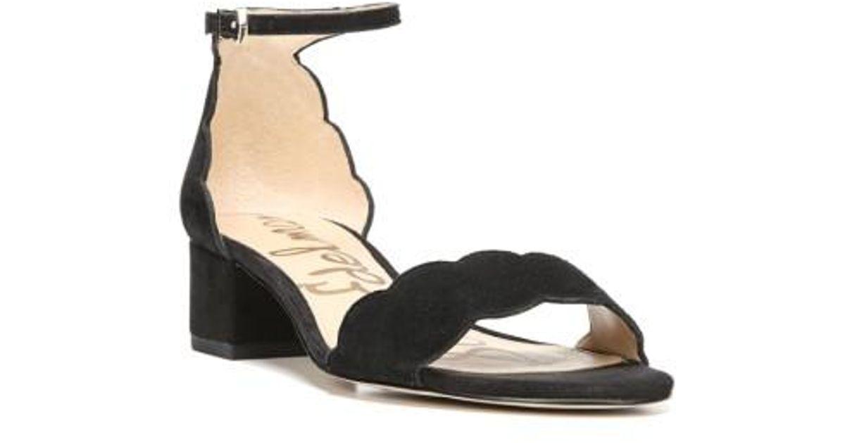 d117d12d7 Lyst - Sam Edelman Inara Scalloped Block Heel Sandal in Black